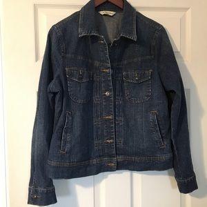 St John's Bay denim jean jacket Size Large